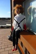 black suiteblanco jeans - white suiteblanco necklace