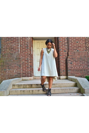 asos dress - Urban Outfitters heels - Urban Outfitters necklace