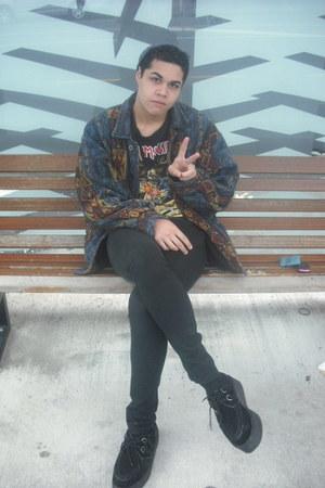 100 cotton jacket - 2 creepers Demonia shoes - Jay Jays jeans