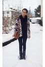 Studded-max-shoes-boots-primark-shirt-h-m-bag-aztec-vero-moda-cardigan
