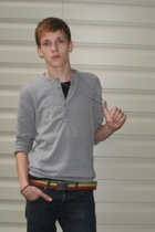 H&M sweater - social collision jeans - American Eagle belt - Hot Topic necklace