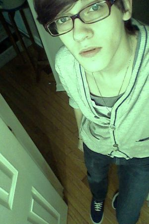 gray J Crew cardigan - white American Apparel t-shirt - blue Bullhead jeans - bl