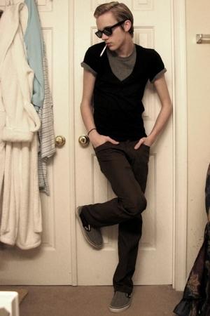 BDG t-shirt - alternative apparel t-shirt - Vans pants - Vans shoes - Dockers su