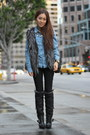 Black-faux-fur-boots-aldo-boots-silver-faux-fur-vest-publik-vest