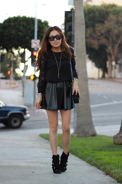 leather skirt PUBLIK skirt - PUBLIK blouse