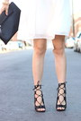 White-justfab-dress-black-justfab-heels