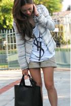 Zara blazer - oversize bag Zara bag - cotton tank top YSL top