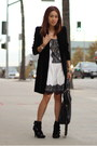 Black-velvet-coat-zara-coat-white-white-dress-publik-dress