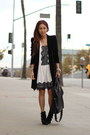 White-dress-publik-dress-velvet-coat-zara-coat