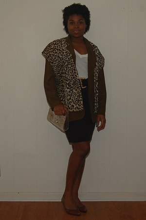light brown Joe Frank of Houston vest - olive green Leslie Faye Separates blazer