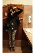 blazer - Folded and Hung shirt - leggings - People are People - Folded and Hung