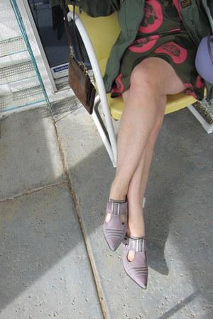 Fluevog shoes - print dress Tucker for Target dress - G-Star raw jacket