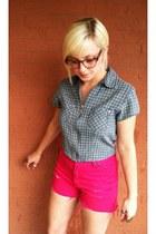 vintage top - vintage shorts