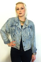 light blue vintage jacket - black skinny jeans Lee jeans