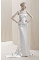 ivory charmeuse Blue by Enzoani dress