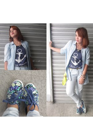 Gap top - Lee pants - Kicks by SM Dept Store wedges