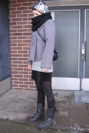 Ellos jacket - armani jr skirt - Ellos boots - asos hat