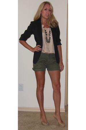 Express blazer - JCrew blouse - Forever 21 shorts - banana republic necklace - G