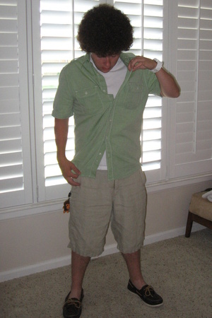 Old Navy top - Old Navy shorts - Sperry Top Sider shoes - Gap t-shirt