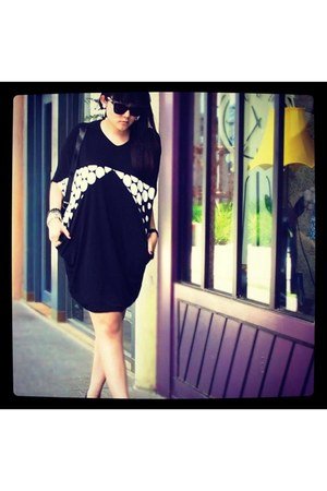 black Extra Bon Bon dress - black Ksubi sunglasses - black YSL heels