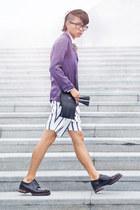 Zara shorts - acne bag - Zara blouse