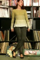 yellow ombre Anthropologie sweater