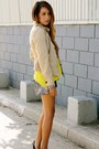Beige-martin-osa-jacket-yellow-gap-shirt-puce-sequins-hallelu-shorts