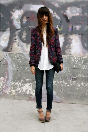 floral Silence  Noise blazer - CurrentElliot jeans