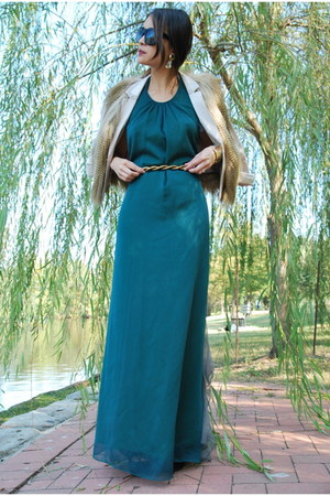 teal silk chiffon Jolie &amp; Elizabeth dress