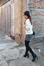 Combat-boots-alexander-wang-boots-vintage-sweater-striped-forever-21-skirt