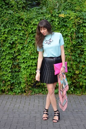 H&M skirt - skirt - DIY necklace