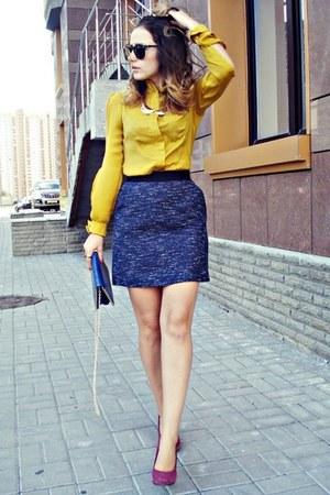 navy Oasis skirt