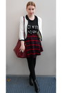 Black-h-m-boots-black-monki-shirt-ruby-red-plum-bag