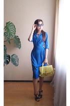 blue CDNirect dress - light yellow CDNirect bag