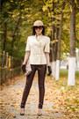 Camel-zarina-hat-crimson-faux-leather-new-yorker-leggings