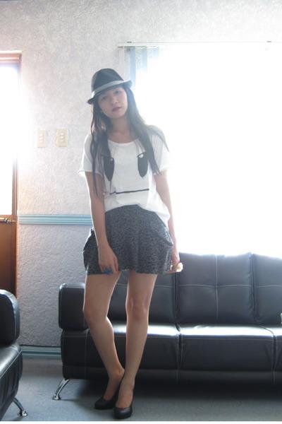 L4L top - dept store heels - thrifted skirt