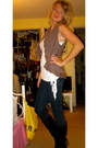 Brown-forever-21-sweater-white-forever-21-top-blue-j-brand-jeans-black-for