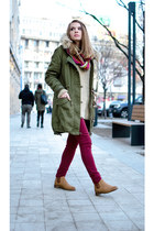 army green New Yorker coat