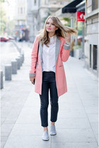 salmon Lovelywholesale coat - white Massimo Dutti shirt - gray New Yorker pants