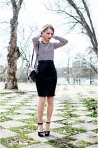 black Accessorize bag - black H&M top - black Zara sandals