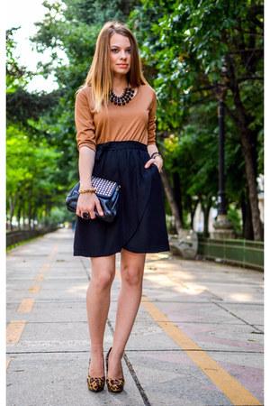 black Lefties dress - brown H&M heels