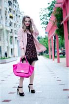 black pull&bear romper - light pink H&M blazer - black Zara sandals