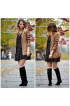 brown Stradivarius blazer - black Lefties dress