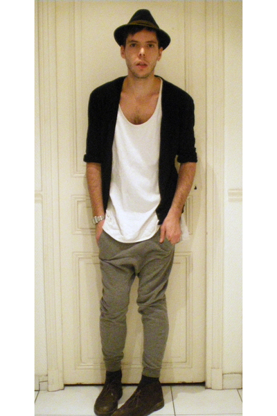 Hubertus hat - vanessabruno jacket - JuunJ t-shirt - DOM pants - Clarks shoes