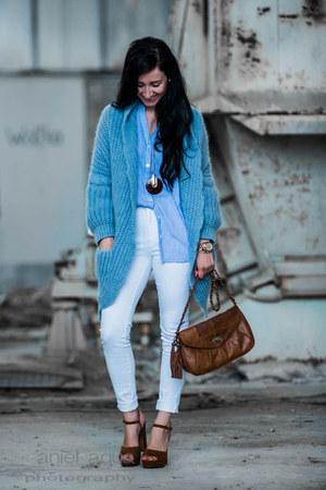 turquoise blue Conleys blue jacket