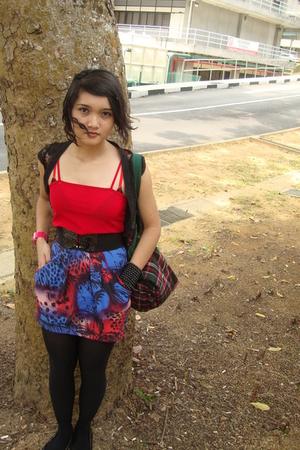 shirt - Topshop skirt - Zara purse - vest