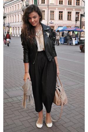 black DIY studdied Concept Club leather jacket jacket
