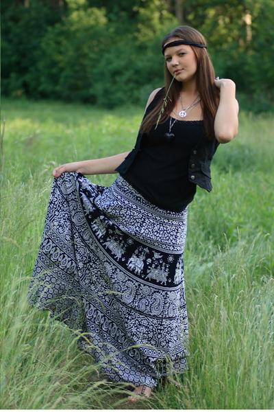 white made in india skirt