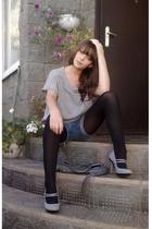 Zara sweater - I cut them shorts - Peacocks shoes