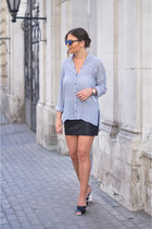 light blue Zara shirt